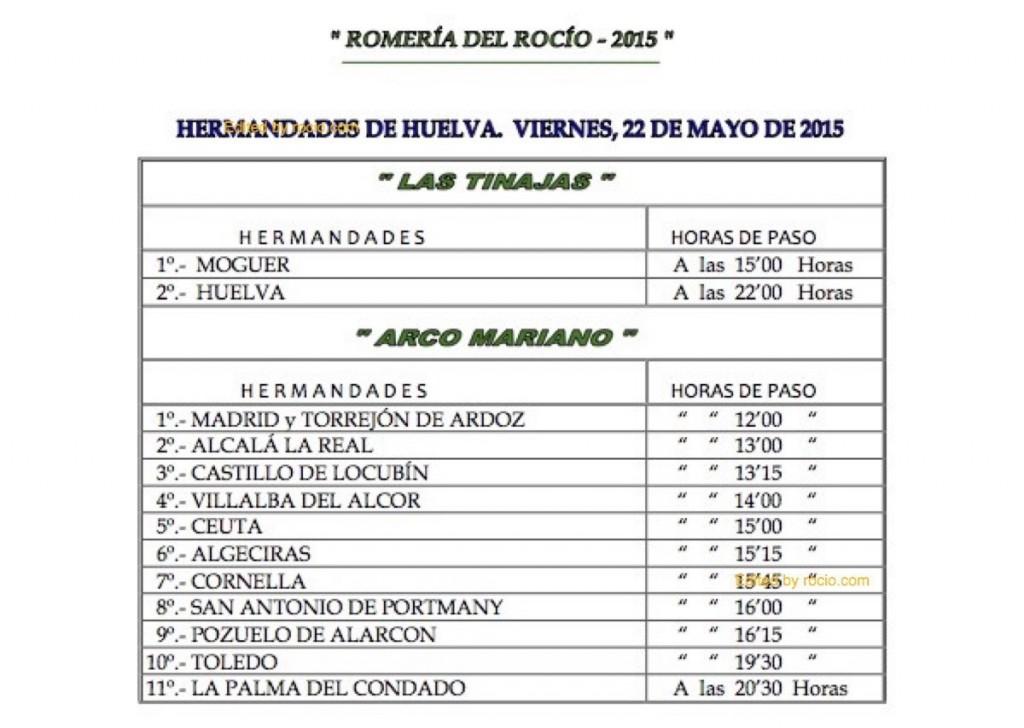 HORARIOS DE PASO ROMERIA 2015-9