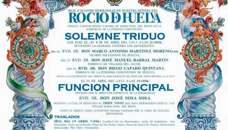 Hermandad de Huelva – Solemne Triduo