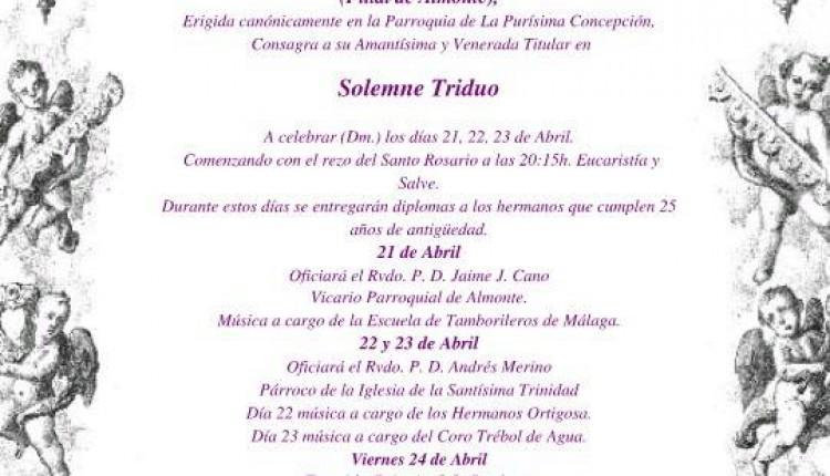 Hermandad de Málaga – Solemne Triduo y Pregón 2015