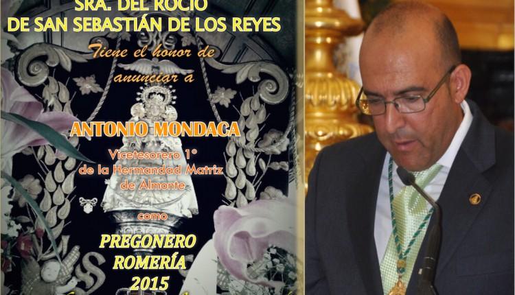 Hermandad de San Sebastián de los Reyes – Solemne Triduo y Pregón Rociero 2015 a cargo de  D. ANTONIO MONDACA ORIHUELA