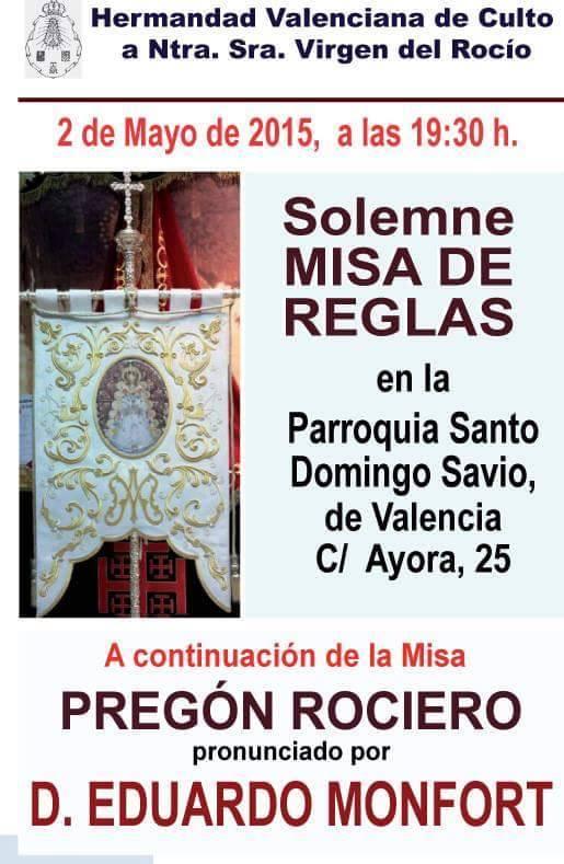 Valenciana de Culto Pregon 2015
