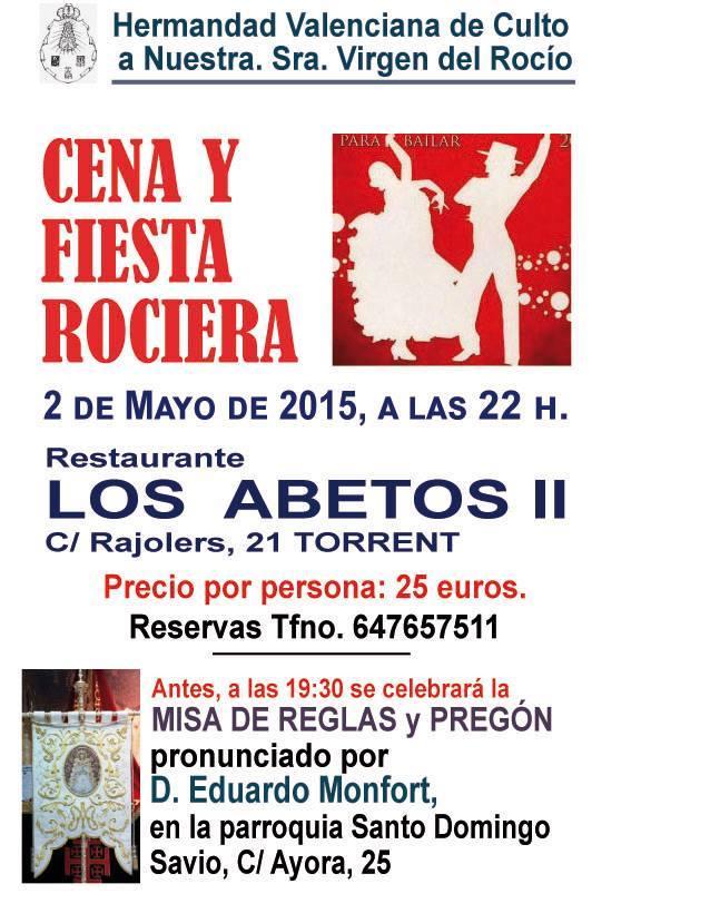Valenciana de Culto fiesta rociera 2015
