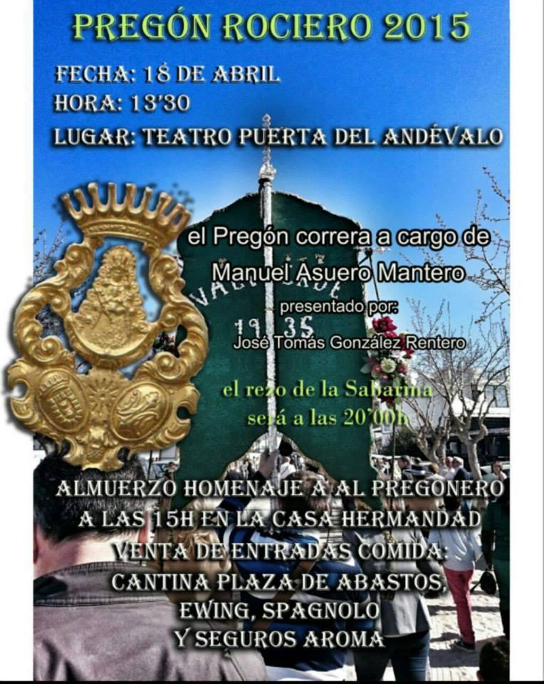 Valverde cartel pregon 2015