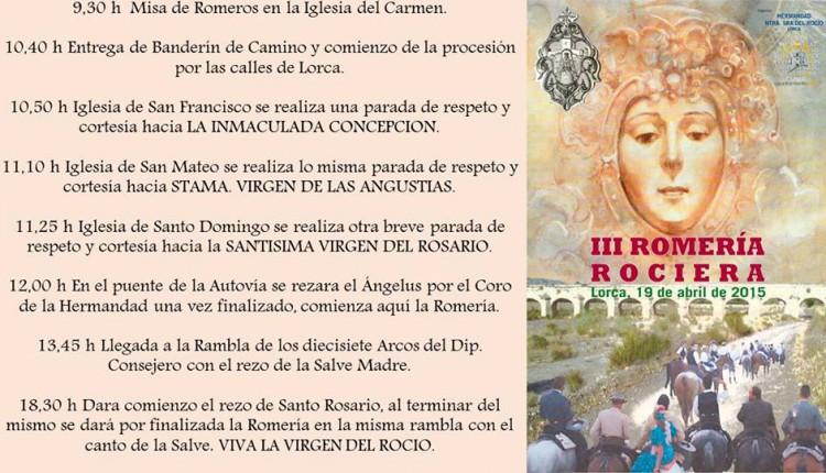 Hermandad de Lorca – III ROMERIA ROCIERA 2015