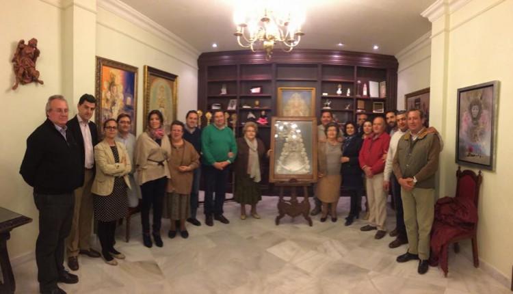 Hermandad Matriz – La familia Bañez Romero dona un cuadro