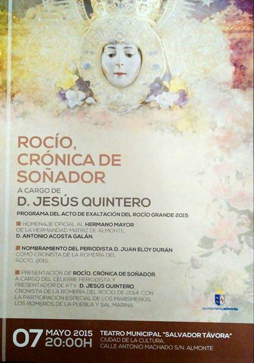Cronica de soñador -almonte 2015