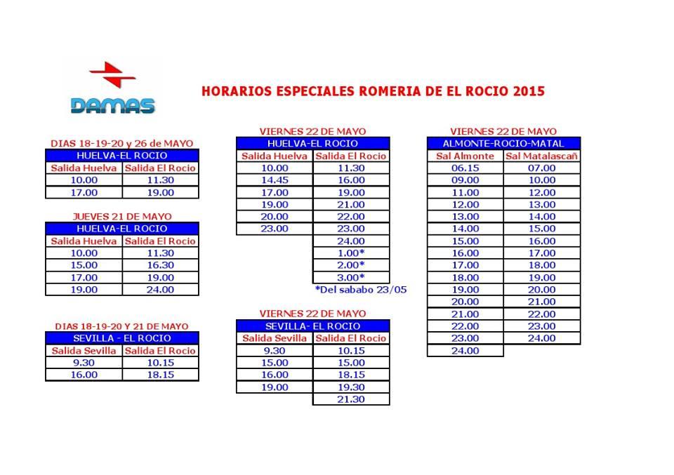 Horarios Damas 2015-1