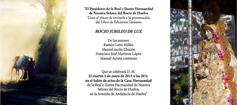 Libro Rocio Jubileo de Luz en Huelva