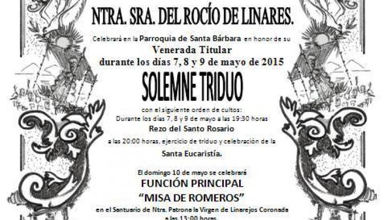 Hermandad de Linares – Solemne Triduo 2015