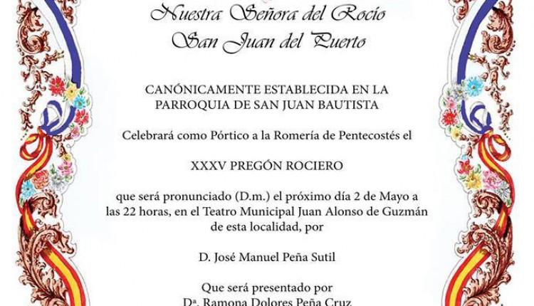 Hermandad de San Juan del Puerto – Solemne Triduo y XXXV Pregón a cargo de D. José Manuel Peña Sutil