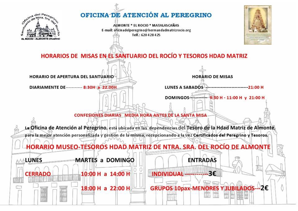 horarios misas juli agosto 2015