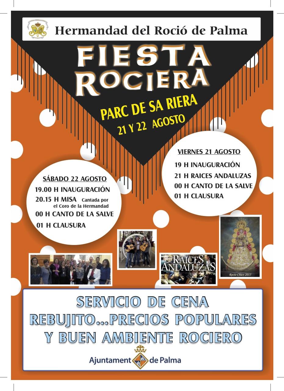 CARTEL DE ROCIERO Mallorca 2015