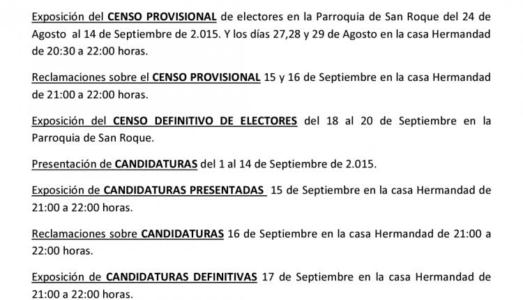 Hermandad de Las Cabezas – Cabildo General de Elecciones
