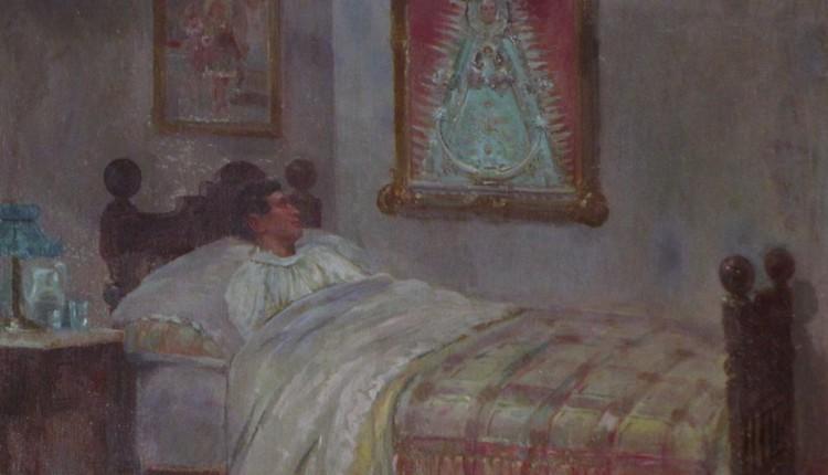 """Exvoto de Rafael Gómez """"El Gallo"""" encomendándose a la Virgen del Rocío"""