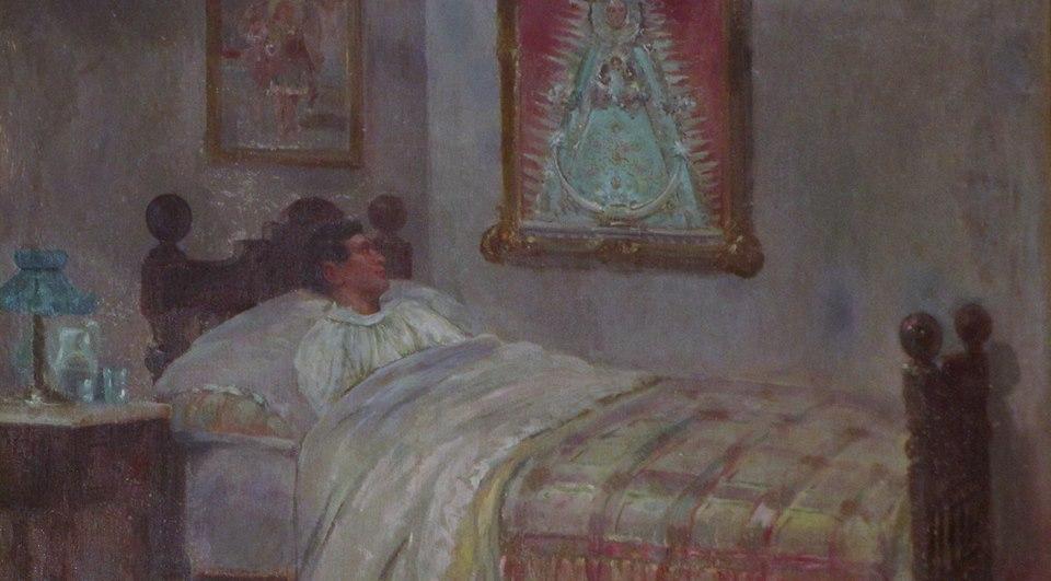 Exvoto rafael el gallo a la Virgen del Rocío