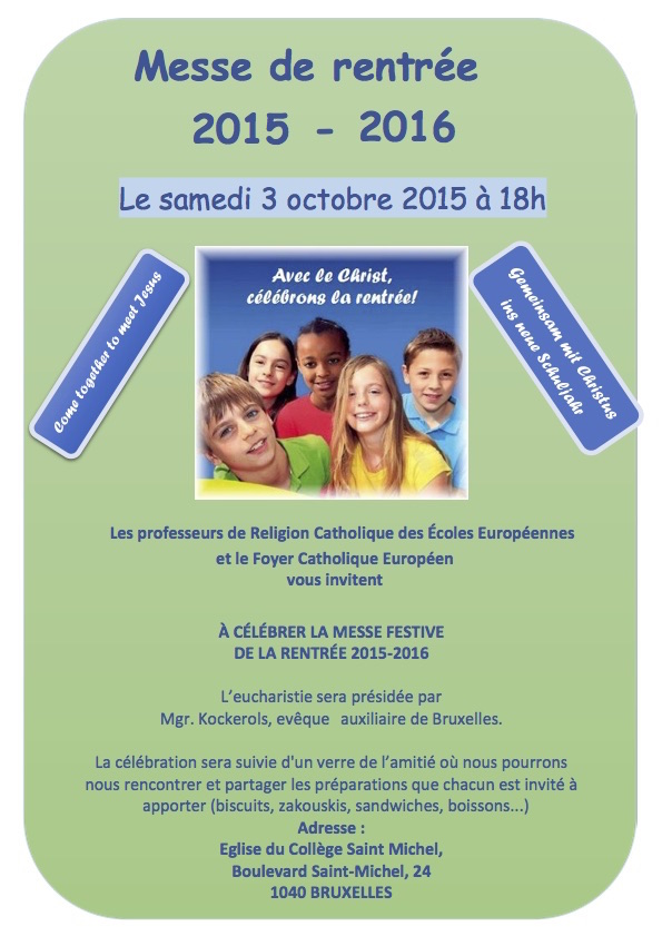 Bruselas Messe de la rentrée 2015-2 langues