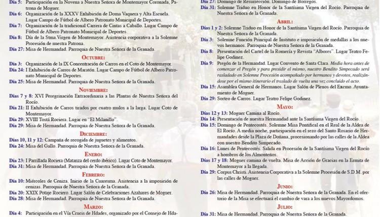 Hermandad de Moguer – Agenda de cultos y actos para el 2015-16