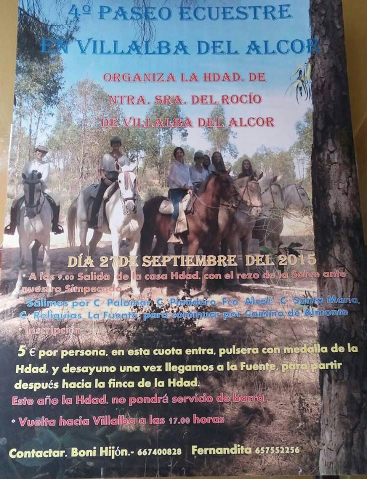 Villalba del alcor paseo a caballo 2015