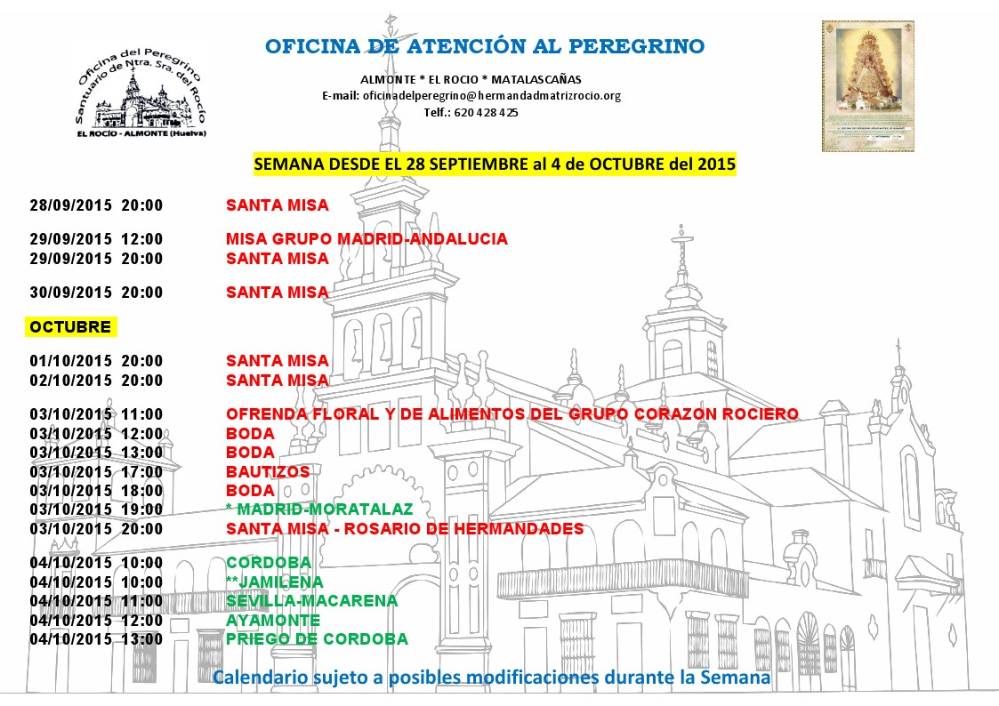 calendario 28-09 a 4-10-2015