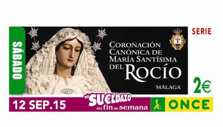 María Santísima Virgen del Rocío de Málaga, la «Novia de Málaga», en el cupón de la ONCE del 12 de septiembre