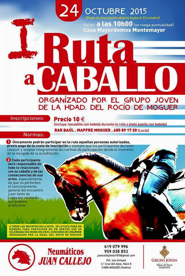 I ruta a caballo Moguer