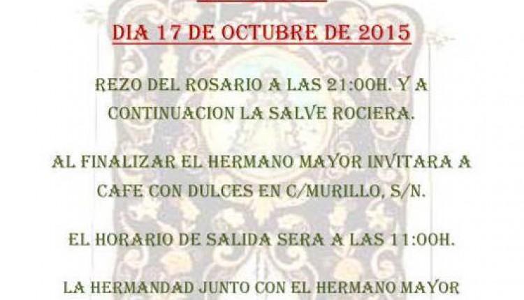 Hermandad de Lucena del Puerto – Peregrinación Nocturna al Rocío 2015