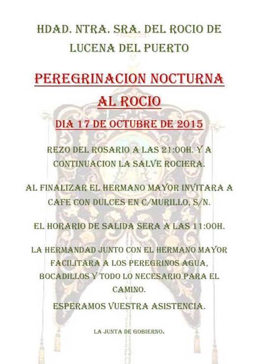 Lucena del Puerto peregrinacion nocturna 2015