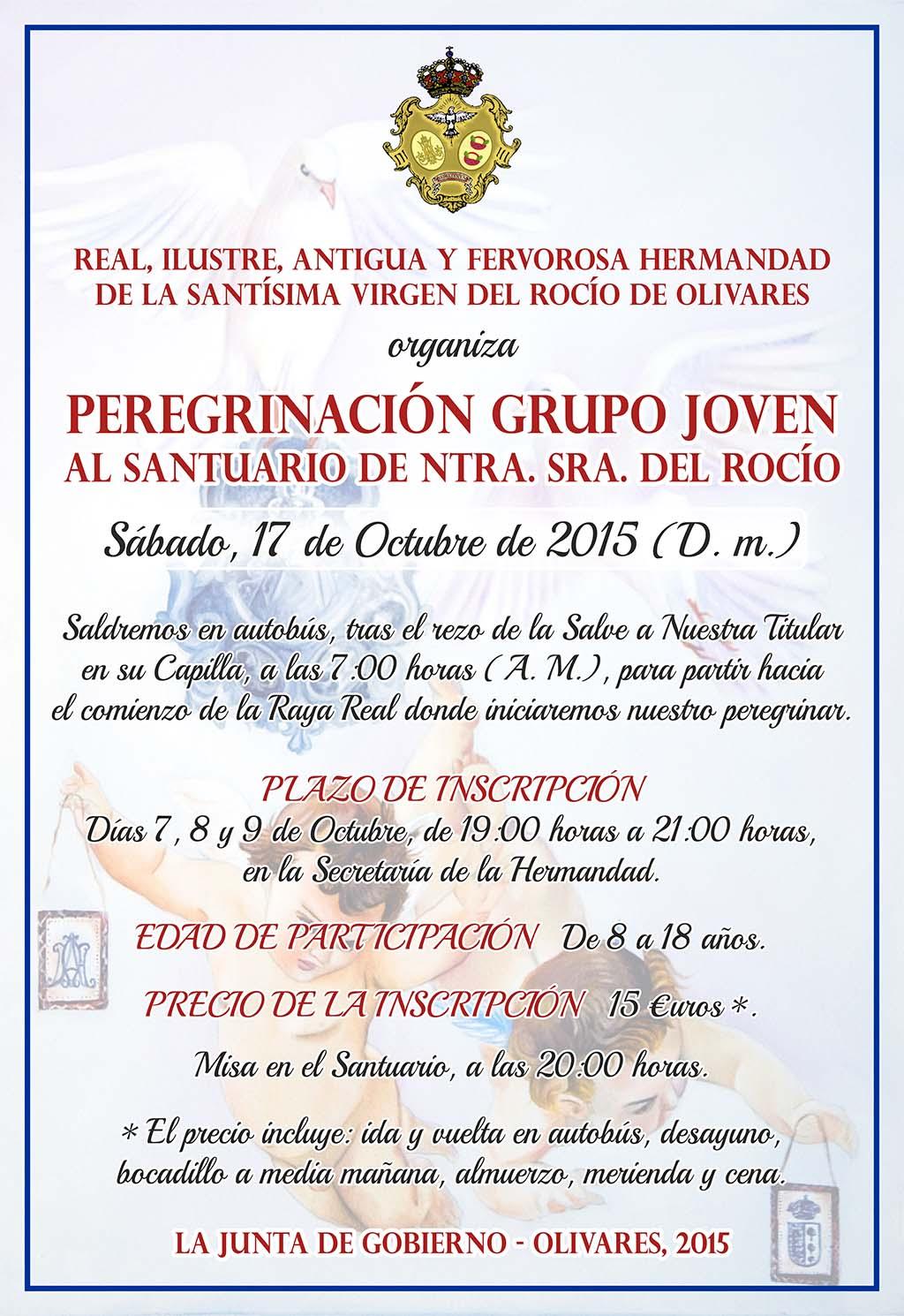 olivares PEREGRINACION GRUPO JOVEN 2015