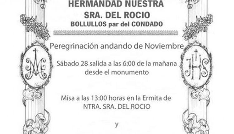Hermandad de Bollullos – Peregrinación andando al Rocío noviembre 2015
