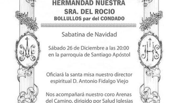 Hermandad de Bollullos del Condado – Sabatina de Navidad