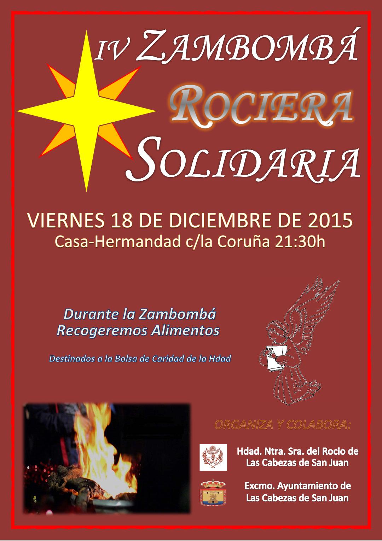 Las Cabezas Cartel Zambomba Rociera Solidaria