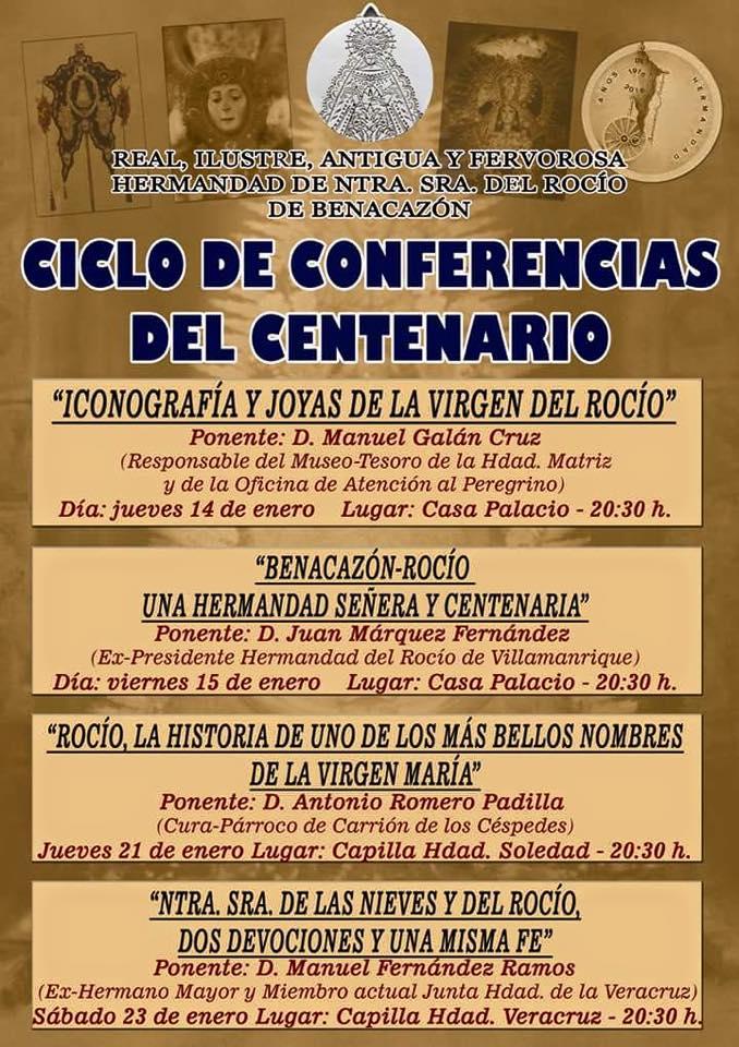 Benacazon conferencias centenario