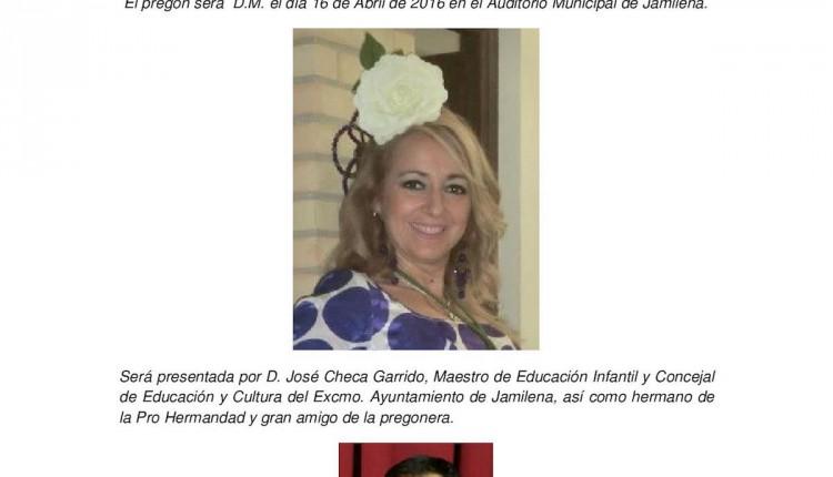 Pro Hermandad de Jamilena – Pregonera del Rocío 2016