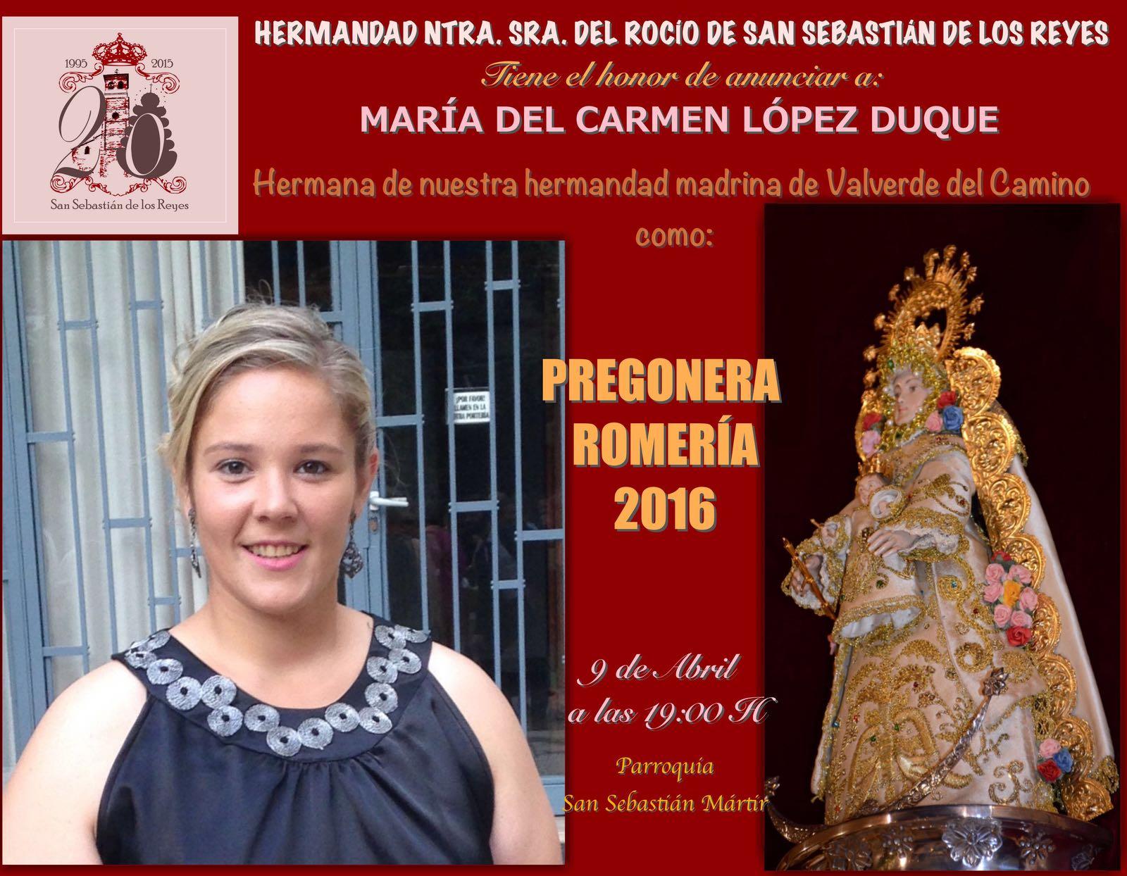 San Sebastian de los reyes Pregon 2016