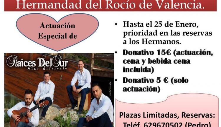 Hermandad de Valencia – Actuación de «Aires del Sur»