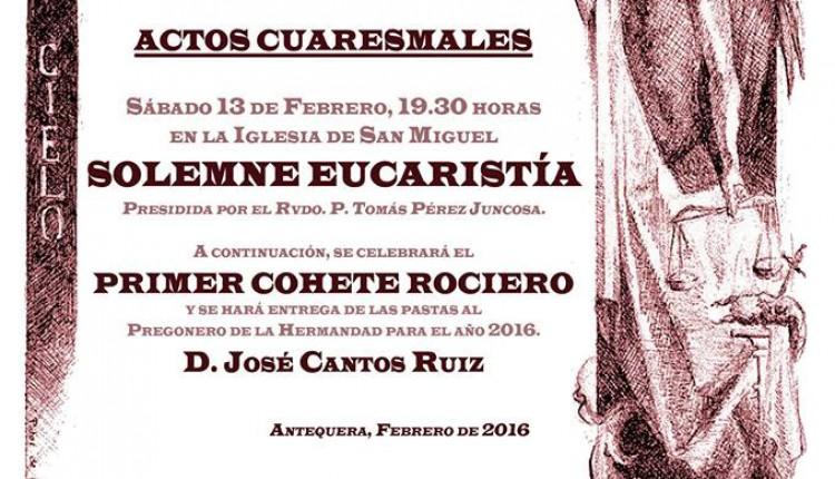 Hermandad de Antequera – Solemne Eucaristía y 1º Cohete Rociero