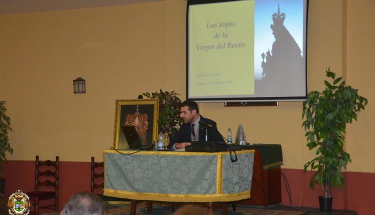 """Hermandad de Camas – Conferencia de D. Manuel Galán """"Las Joyas de la Virgen del Rocío"""""""