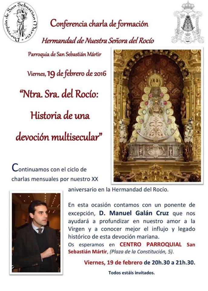 San Sebastian martir conferencia Galan