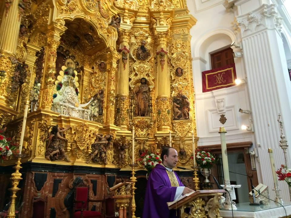 Torremolinos D. Alejandro Pérez Verdugo en la Eucaristía de Accion de Gracias en el Rocío