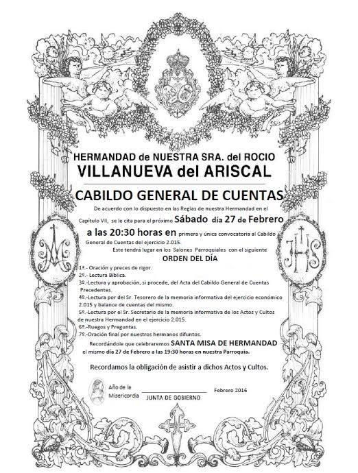Villanueva del ariscal cabildo
