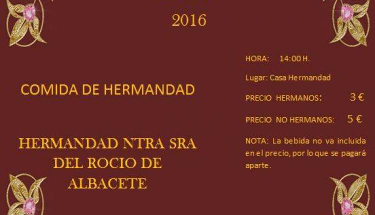 Hermandad de Albacete – Comida de Hermandad