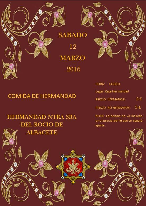 Albacete comida hermandad 2016