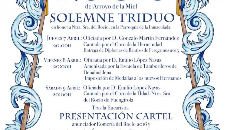Hermandad de Arroyo de la Miel – Solemne Triduo 2016