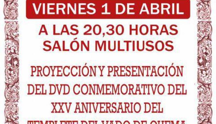 Hermandad de Aznalcazar – Proyección del DVD XXV Aniversario Templete Vado de Quema