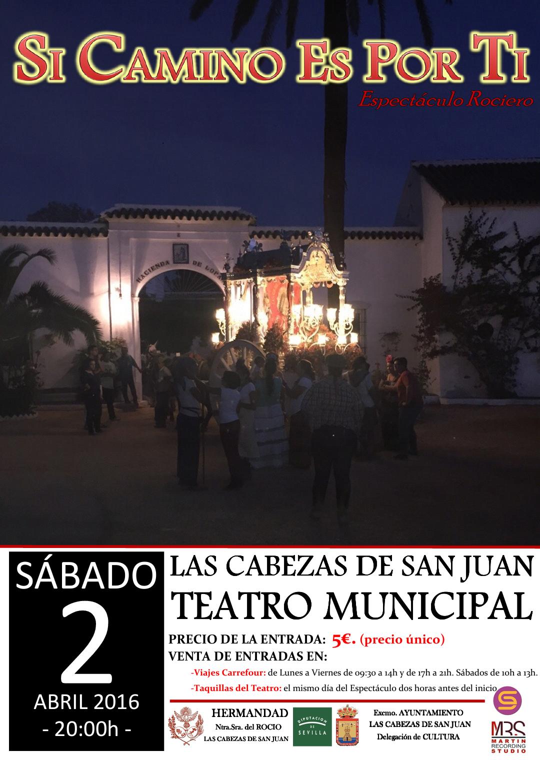 Las Cabezas - 2016 Cartel Espectaculo ROCIERO