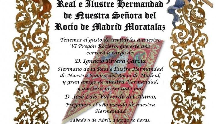 Hermandad de Moratalaz – VI Pregón Rociero a cargo de Ignacio Rivera García