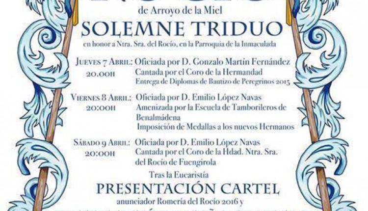 Hermandad de Arroyo de la Miel – Solemnes Cultos Rocío 2016