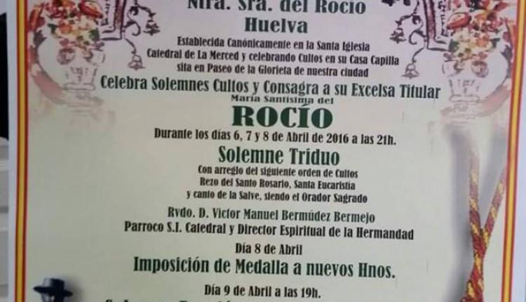 Hermandad de Emigrantes de Huelva – Solemnes Cultos 2016