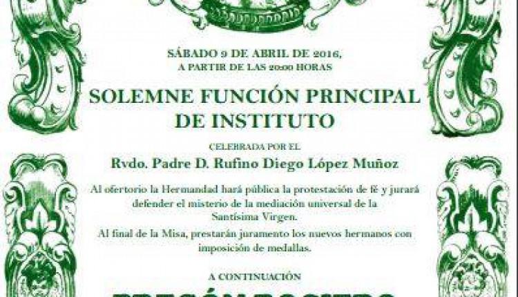 Hermandad de Escacena – Pregón Rociero a cargo de Gabriel Solís Carvajal