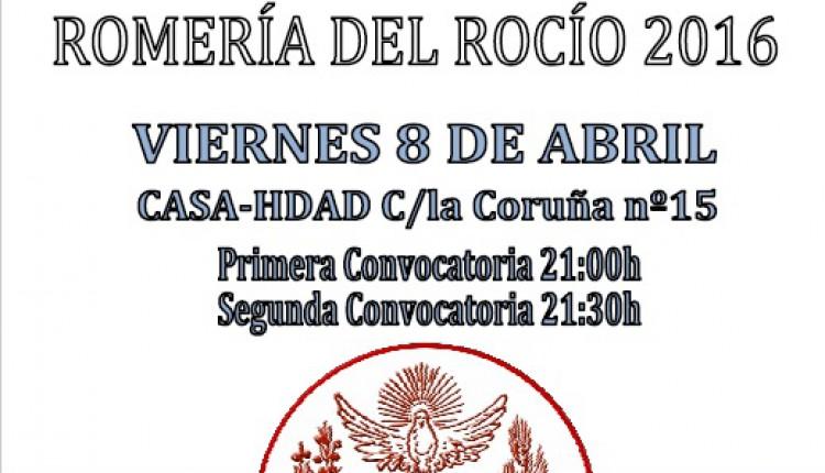 Hermandad de Las Cabezas – Cabildo General de Camino – Romería  2016